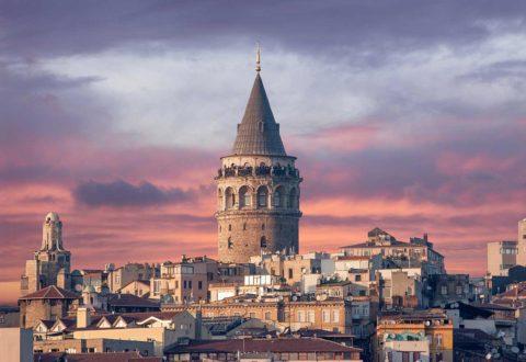 Le quartier de Beyoğlu Galata Turquie